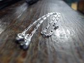 "10"" Silver Figaro Bracelet 925 Silver 1.7g"